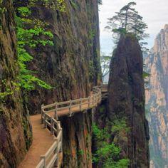 Cliffside Path, Huangshan, Anhui, China