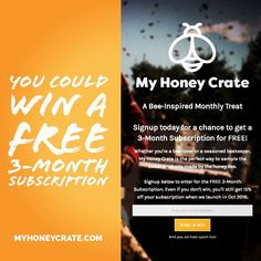 Don't forget to signup on our website (link in bio) to win a 3-Month Subscription to @myhoneycrate. All signups will receive a 15% Off coupon code no matter what. #GoodLuck  #giveaway #honeycrategiveaway #contest #signup #signupnow #signuptoday #honeycrate #free #win #winner #discount #promocode #couponcode #coupon #couponing #subscriptionbox #3monthsubscription #grandprize #grandprizewinner #sweetashoney #honey #honeylover #bees #honeybees #savethebees #savethebeessavetheworld #lucky