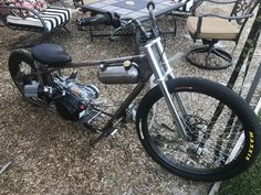 Mini Chopper Motorcycle, Tracker Motorcycle, Motorcycle Design, Bike Design, Custom Moped, Custom Bikes, Gas Powered Bicycle, Motorised Bike, Karts