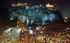 Edinburgh Castle during Hogmanay
