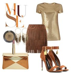 """""""golden muse"""" by karina-araya on Polyvore featuring Michael Kors, Lipsy, Tom Ford, Topshop, H&M and Panacea"""