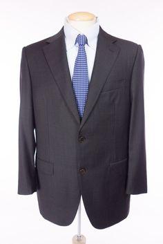 CANALI 1934 Mens Blazer 52 42 Slim L Brown Check Travel Water Resistant Jacket #Canali1934 #TwoButton