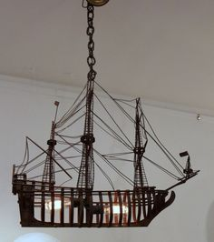 Oxodized Iron Ship Chandelier image 2