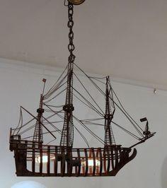 Oxodized Iron Ship Chandelier image 2