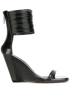 Shop Rick Owens Mignon ankle-strap wedge sandals.