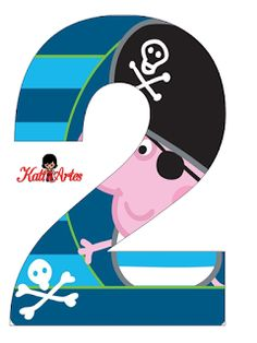 Alfabeto de George Pig Pirata. Toot & Puddle, George Pig Party, Peppa Pig Family, Masha And The Bear, Flower Letters, Famous Cartoons, Pirate Party, Letters And Numbers, Alphabet
