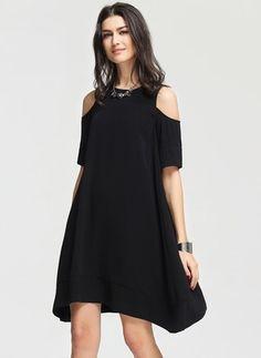 @ floryday.com Chiffon Dress, Cold Shoulder Dress, Velvet, Gowns, Casual, Outfits, Shopping, Black, Dresses