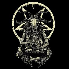 Arte Horror, Horror Art, Baphomet, Dark Art Illustrations, Illustration Art, Satanic Art, Dark Artwork, Arte Obscura, Metal Tattoo