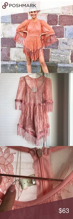 Pink Tassle Dress Similar to Alice McCall but no brand. Brand new, never worn. Super cute. Not from listed brand but similar to. Dresses Mini