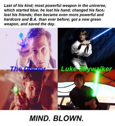 Luke and the Doctor compared