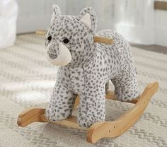 Oh my I need this, I mean Jude needs this. Snow Leopard Rocker #pbkids
