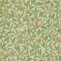 The Original Morris & Co - Arts and crafts, fabrics and wallpaper designs by William Morris & Company | Products | British/UK Fabrics and Wallpapers | Bird & Pomegranate (DARW212539) | Morris Archive Wallpapers II