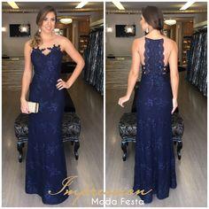 Sapato para vestido longo azul marinho
