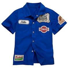 I want this mechanic shirt for the little guy!