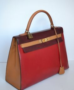 ed8b452b109e Hermes Vintage Kelly 32 Lizard Tricolore. See more. 32 Tricolore Box Gold  Hardware Luxury Closet