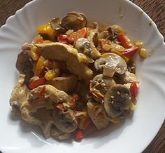 Low Carb Rezepte: Low Carb Gorgonzola Pilzpfanne mit Huhn