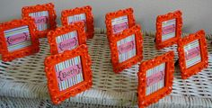 @Candace Kozlowski of Rock Candie Designs created these bright and cheery place settings. For your custom place settings please visit www.rockcandiedesigns.com