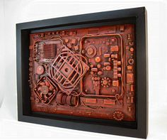 Industrial wall art 11x14. Unique computer steampunk by OfficeDeco