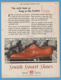 1928 Smith Smart Shoes Chicagi IL Vintage 1920s Men's Fashion Style Footwear Ad
