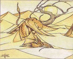 Elder Land Wurm by Quinton Hoover - Tribute to Quinton Hoover | Original Magic Art