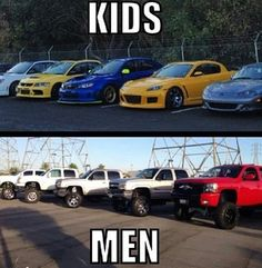 The difference between a man and a kid vroom vroom toys