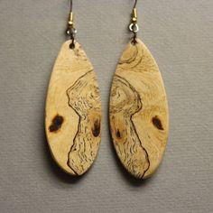 Stunning Sindora Burl Earrings Exotic Wood