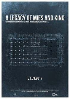 Movie Documentary Poster A Legacy of Mies and King by ElianoFelicio.com #architecture #graphicdesign