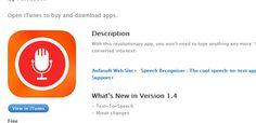Speech Recogniser App Whats New, Revolutionaries, Itunes, App, Blog, Free, Apps, Blogging