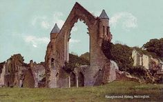 Ruins of Haughmond Abbey in Shropshire