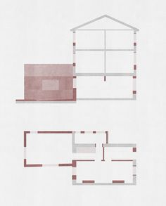 BuildingA domestic extension by Al-Jawad Pike resonates with the work of David Chipperfield, with whom both partners worked Maquette Architecture, Architecture Today, Architecture Graphics, Architecture Design, Landscape Elements, Presentation Design, Geometric Art, Graphic Illustration, How To Plan