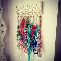 DIY necklace rack