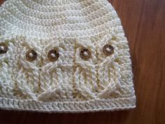 Crochet PATTERN-It's a Hoot Owl Hat.  Adult baby and