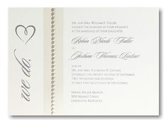 We Do #Wedding #Invitation