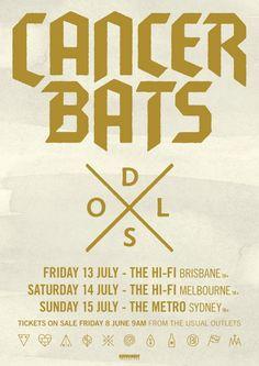 Cancer Bats Australian Tour - Details at http://www.bombshellzine.com/blog/2012/06/cancer-bats-tickets-on-sale-today/