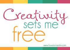 Creativity sets me free #creativity #quote