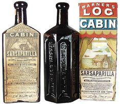 Vintage Sarsaparilla Ad - perhaps Sarsaparilla was the first soft drink to make it to the Old West and it was served in saloons because of the scarcity of pharmacies (or apothecaries) at the time. Sarsaparilla was used during the Civil War as a treatment for syphilis. It was touted as a blood purifier. It is said to have tasted a lot like Root Beer.