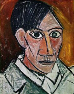 Self Portrait - Pablo Picasso. Pablo Picasso was the most dominant and influential artist of the first half of the twentieth century. His most significant contribution was inventing Cubism. He worked in different style. Pablo Picasso, Picasso Art, Picasso Paintings, Picasso Self Portrait, Picasso Portraits, Cubist Portraits, Self Portrait Artists, Portrait Paintings, Indian Paintings
