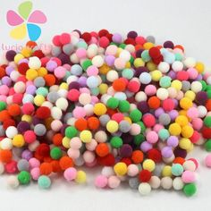 Lucia Crafts 288pcs/lot 10mm Multi option Soft Pom Poms balls DIY Wedding Decoration Accessories