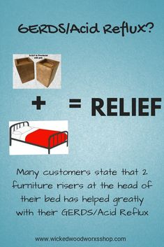 Maybe able to help with GERDS/Acid Reflux according to many of our customers. Simply raising the head of your bed so that you are not flat can possibly help with this condition. Custom Made Furniture, Solid Wood Furniture, Furniture Making, Furniture Risers, Bed Risers, Busy Board, Wood Toys, Raising, Wicked