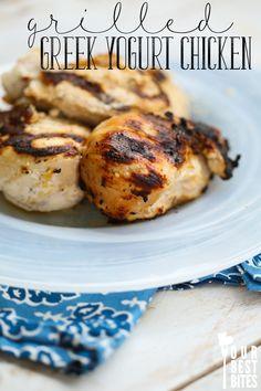 Grilled Greek Yogurt Chicken // Fat Free Chicken Marinade- No Oil // Phase 1 Friendly