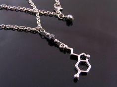 Serotonin Necklace with Hematite
