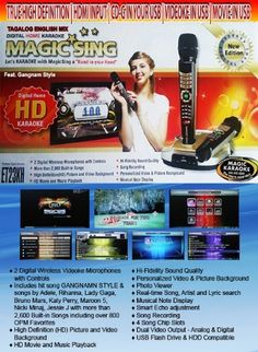 2,600 Songs Tagalog English Mix Pinoy Version Et-23Kh Magic Sing Karaoke 2 Wirelss Microphone By Entertech. Upgrade For The Et-19Kv Or Et19kv Featuring Latest Opm And Latest Pop Singer Psy, 2015 Amazon Top Rated Systems #MusicalInstruments