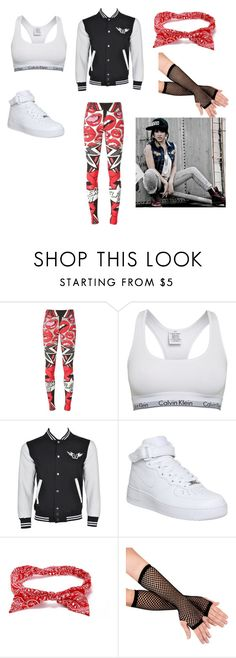 """""""Becky G ~Red Lips~"""" by beauty-within101 ❤ liked on Polyvore featuring Philipp Plein, Calvin Klein and NIKE"""