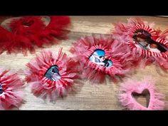 Valentines Day San Valentino how to make a heart wreath Diy come realizzare cuori con il tulle - YouTube