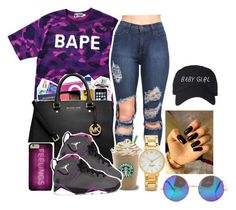"""""""7.18.16 """" by youngfashionaddict ❤ liked on Polyvore featuring A BATHING APE, Kate Spade and Retrò"""
