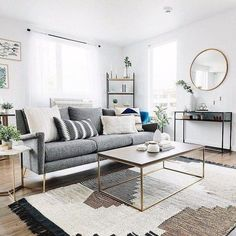 50 Best Small Living Room Design Ideas - The Trending House Small Apartment Living, Small Living Room Design, Coastal Living Rooms, Living Room Grey, Living Room Modern, Living Room Designs, Living Room Decor, Kitchen Living, Living Room Scandinavian