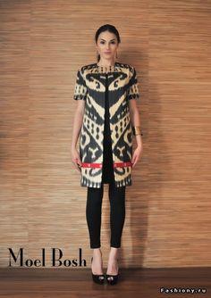 Ikat coat by Moel Bosh Half sleeve tunic Batik Blazer, Blouse Batik, Batik Dress, Kimono, Batik Fashion, Ethnic Fashion, African Fashion, Indian Fashion, Womens Fashion