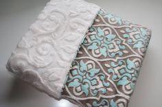 Baby MINKY Blanket Minky Baby Blanket Gender by AustinEliseBaby