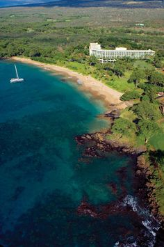 Maluaka Beach at the Makena Beach & Golf Resort is the launching place of the Kai Kanani