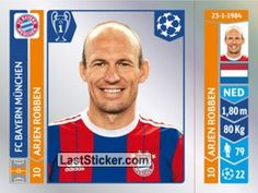 Sticker 352: Arjen Robben - Panini UEFA Champions League 2014-2015 - laststicker.com